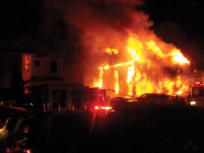 (4) As the first-due units protected the exposures and prepared for master stream operations, the fire had taken complete posession of the house.