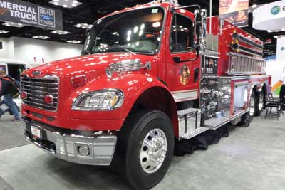 (14) Midwest Fire's 3,000-gallon tanker with an all-poly integrated tank and body.