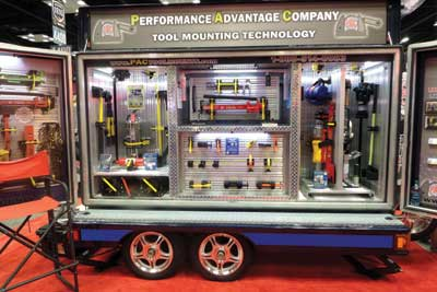 (27) Performance Advantage Company displayed tool-mounting solutions.