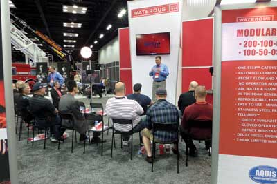 (30) Waterous held well-attended classes on its One-Touch compressed air foam system.