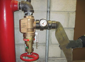 (4) Always use a pressure gauge, especially when PRVs are present, so you know what you're getting off the standpipe under flow conditions.
