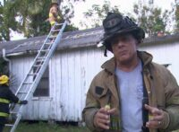 Ric Jorge on firefighters working on the roof