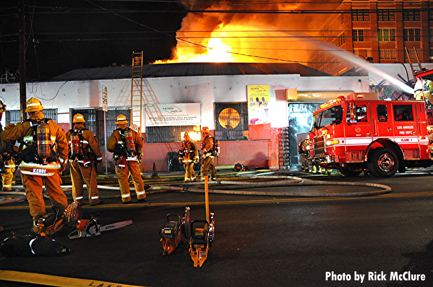 LAFD crews on scene of the fire.