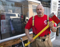 MDFR's Eddie Alarcon discusses the different methods of forcible entry on basic impact glass.