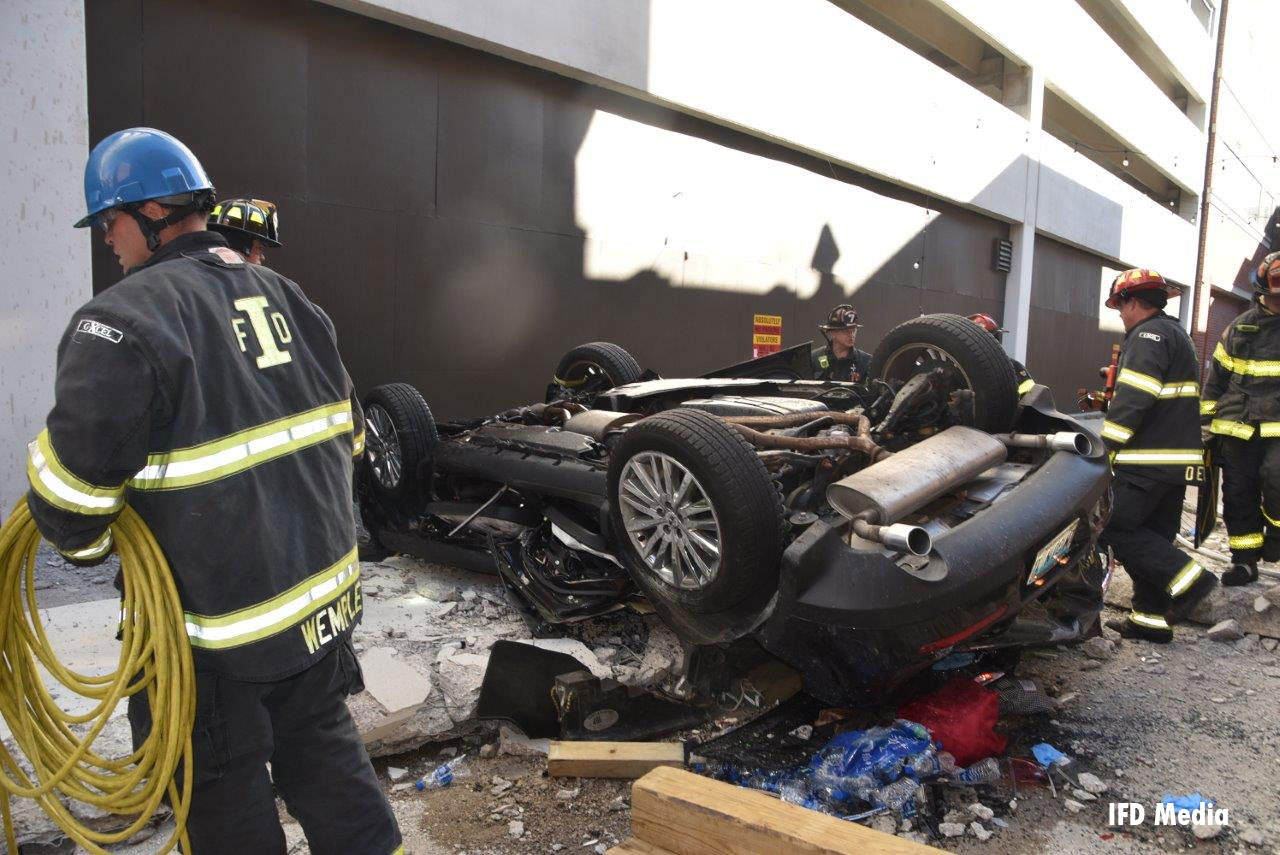 Extrication Task Force 7 and the Indy Collapse Rescue Team responded to the incident, bringing 18 units to the scene.