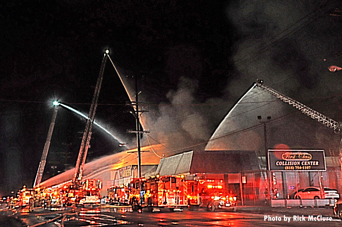 Aerial array at the fire scene