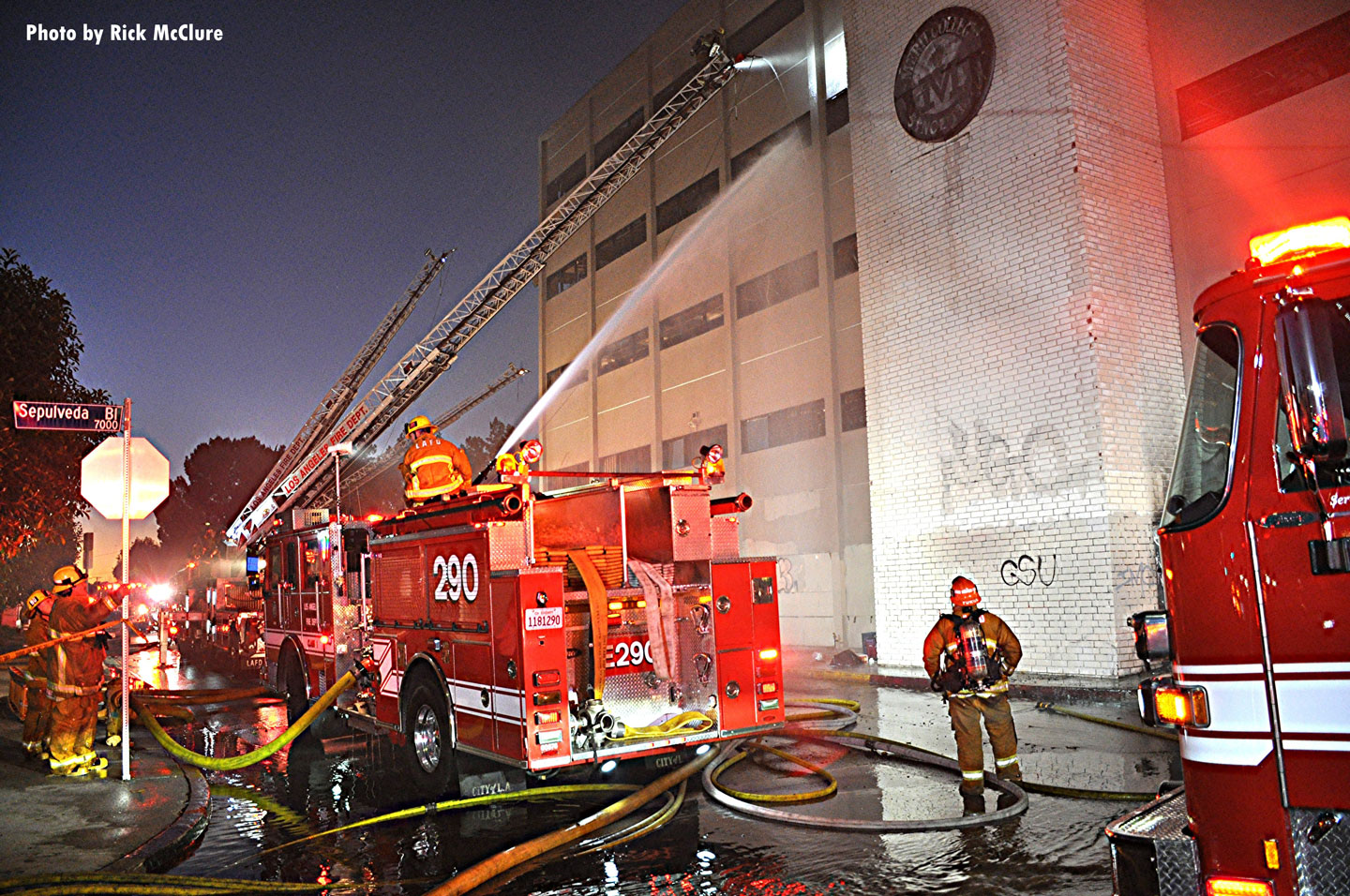 There were no reported injuries to firefighters.