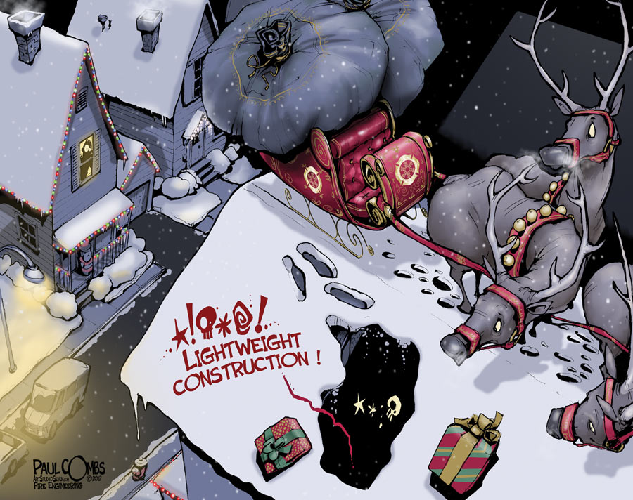 Santa and lightweight construction by Paul Combs