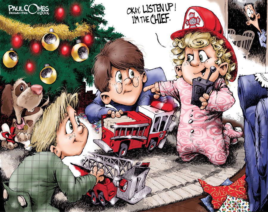 New chief on Christmas by Paul Combs