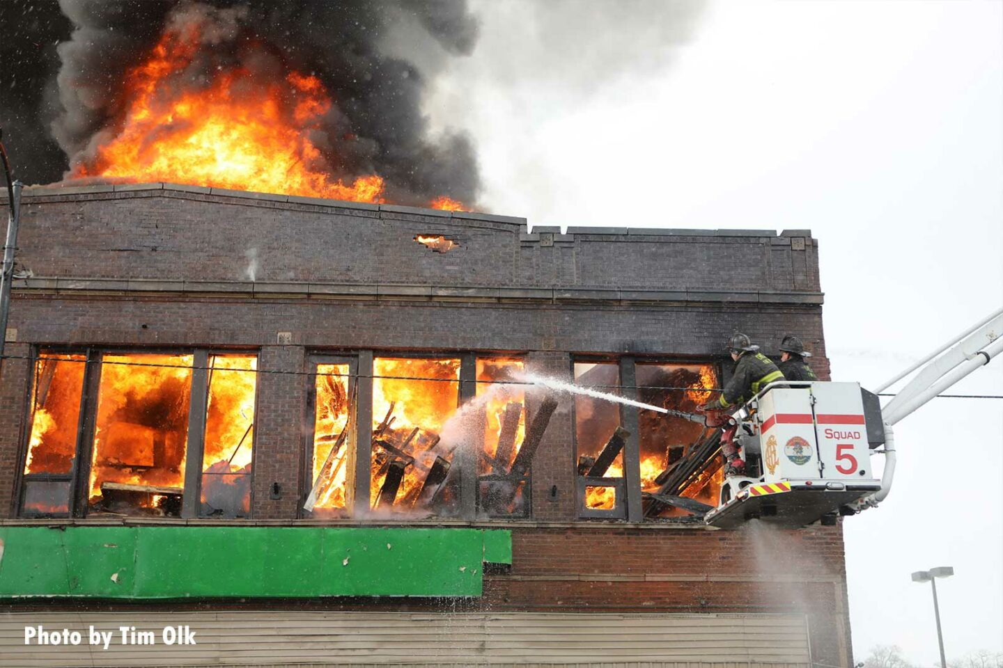 The fire engulfed a building in Roseland on Chicago's far South Side