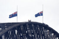 Australia flags at half-mast