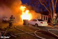 Indianapolis firefighters at scene of house fire