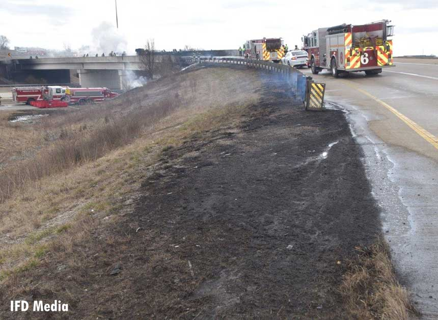A view of the incident scene