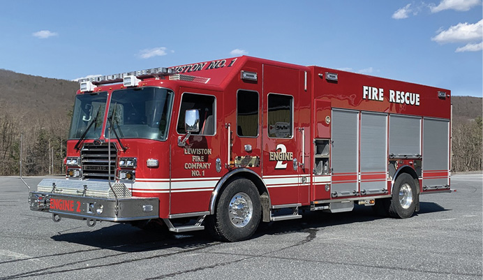 The Lewiston (NY) Fire Company No. 1 received this KME with PRO pumper configuration.