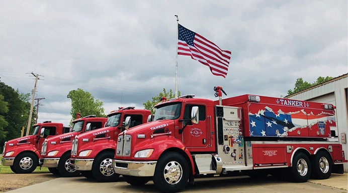 The Quitman (LA) Fire Department has in service four FOUTS BROS. tankers.