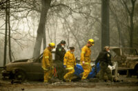 Firefighters at CA wildfire