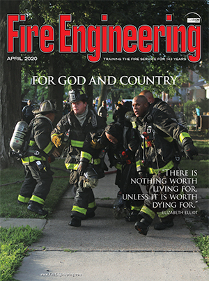 April 2020 cover of Fire Engineering