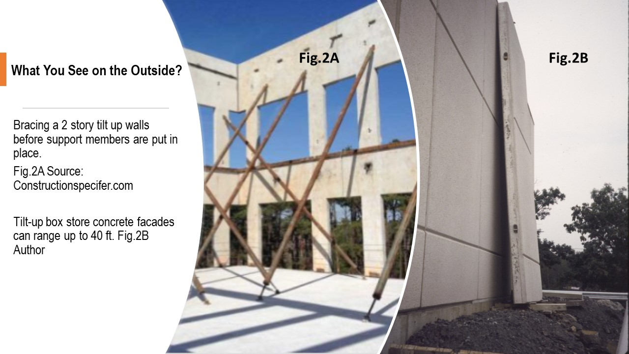 An example of tilt-up walls in construction