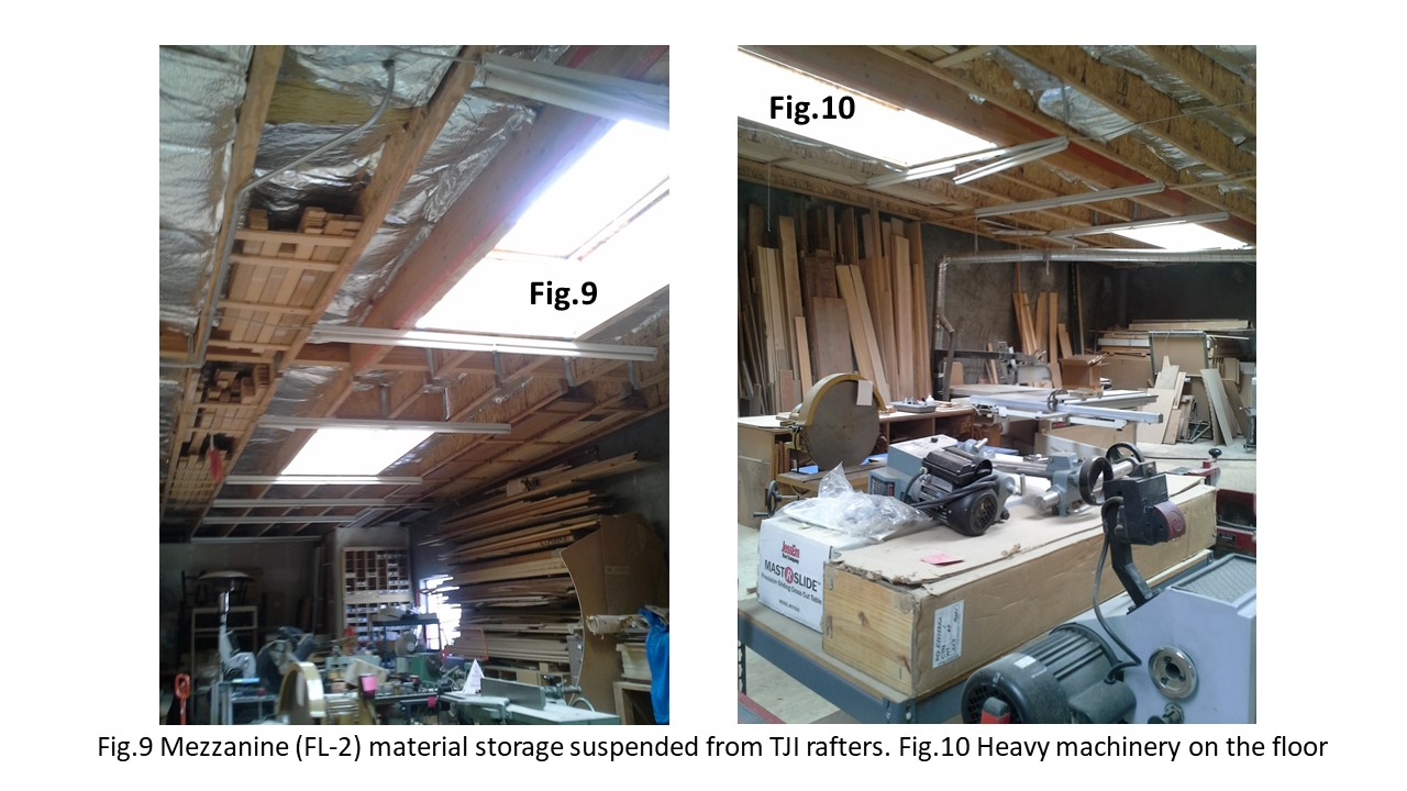 Material storage and heavy machinery