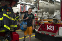 Pete Davidson among FDNY rig and firefighter bunker gear