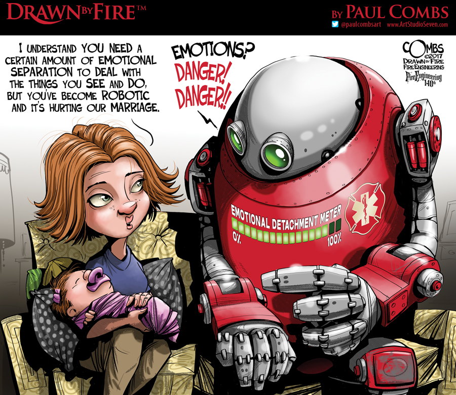 Robot talking with lady