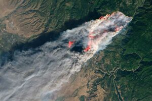 NASA satellite imagery shows the immensity of the 2018 Camp Fire in northern California.