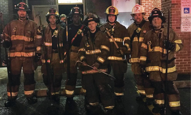 Although the last thing everyone wants to do after a job is gather for a photo, it is priceless to have one to reflect on after performing a good job. These members were on a high for weeks after a commercial fire. A quality photo can show others that your department isn't just about T-shirts or serving up pancakes; members are here to do a job.