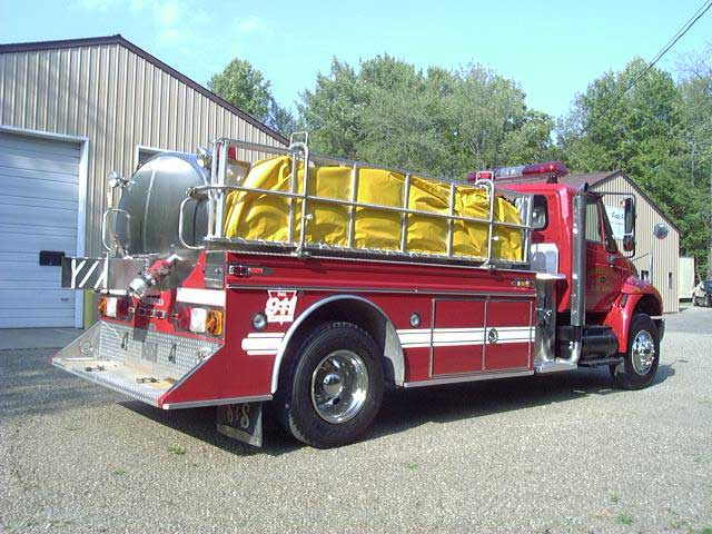Fire apparatus side view