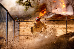 Cal Fire Capt. Jesse Campbell working at Glass Fire