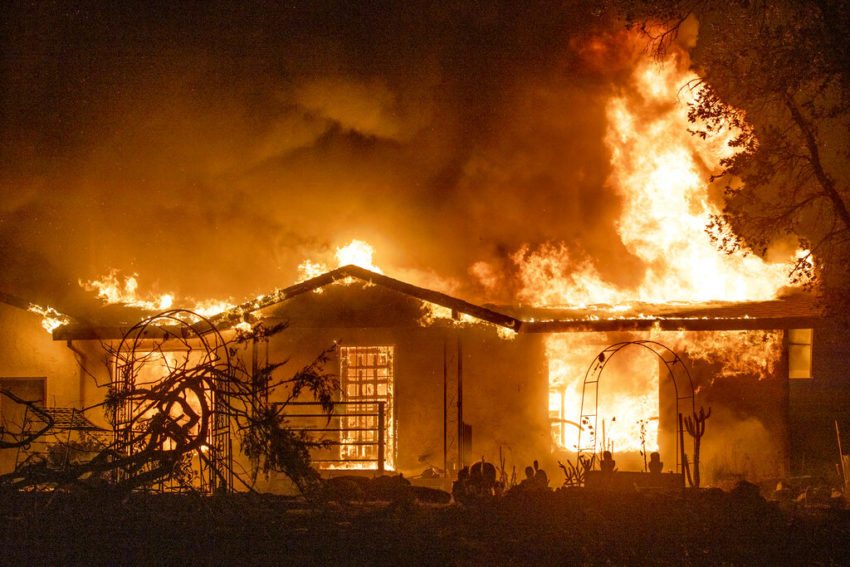 House burns on Platina Road at the Zogg Fire