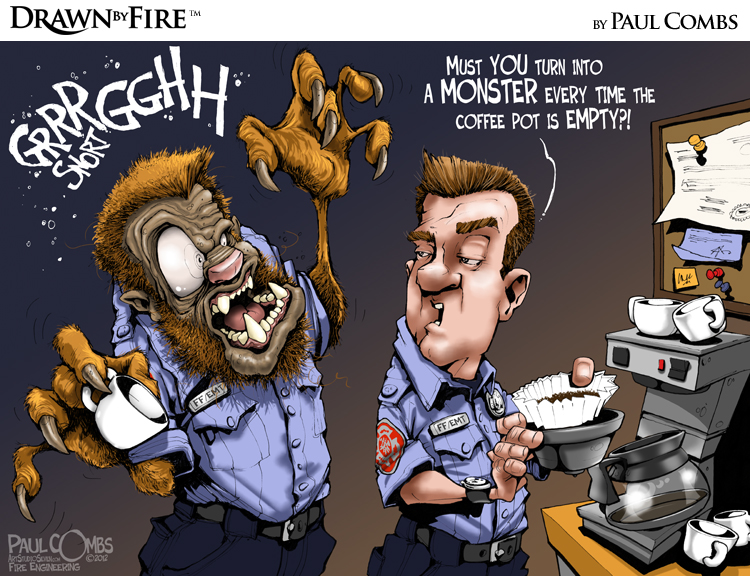 Firefighter turns into werewolf over coffee