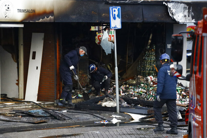 Explosion damages Amsterdam store