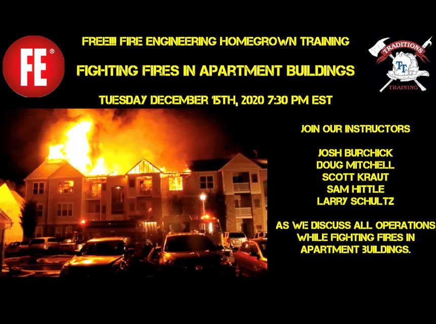 Traditions Training on apartment fires