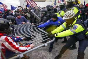 Law enforcement and Capitol rioters
