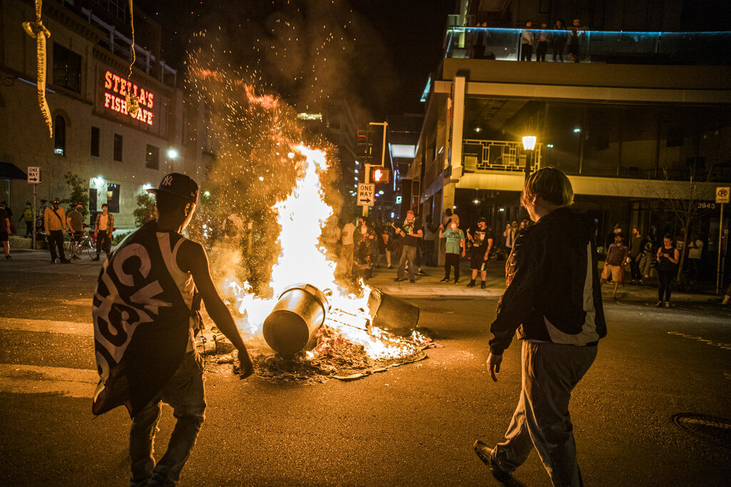 Minneapolis and unrest and fires