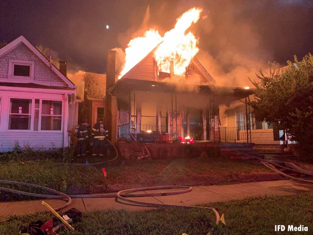 Indy firefighters respond to a vacant structure fire that injured five members