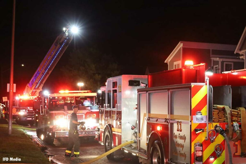 Indianapolis fire apparatus at the fire