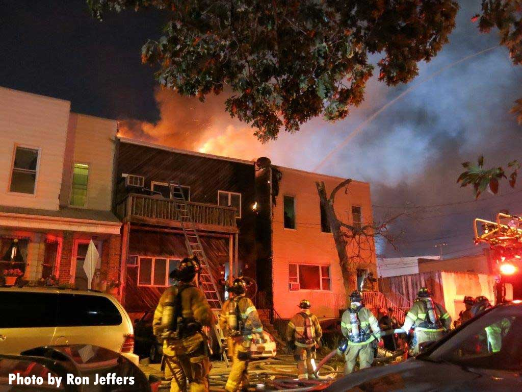 Jersey City firefighters were injured at this fire