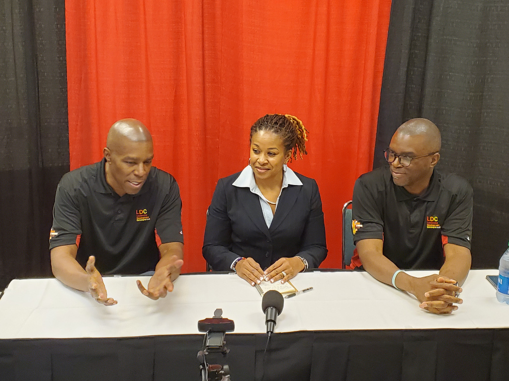 Hosts Larry Conley, David Conley and Tiffanye Wesley are live at FDIC 2021.