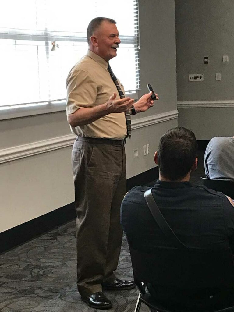 Chief John Salka at Chesapeake Fire Department firefighter training conference