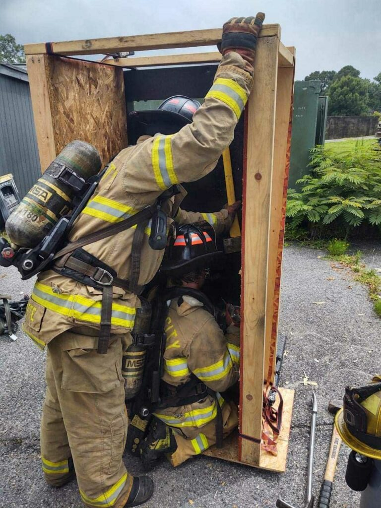 Hands-on training at at Chesapeake Fire Department firefighter training conference
