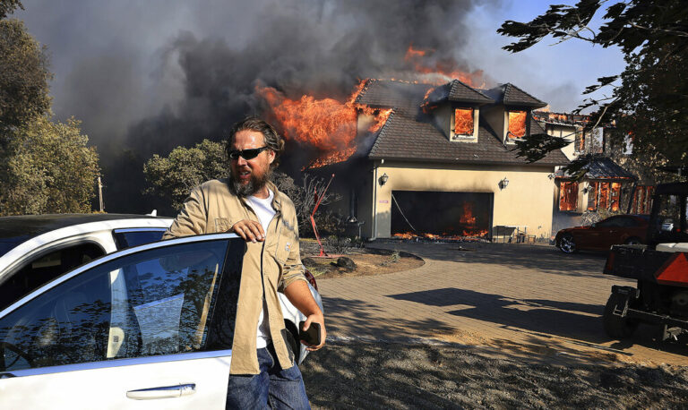 Wildfire Burns Structures in Small CA Town