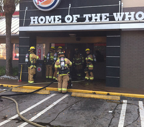 Delray Beach (FL) Firefighters Respond to Fire at Fast Food Restaurant