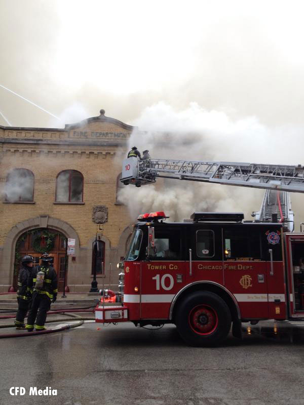 Chicago Firefighters Battle Fire at Restaurant in Converted Firehouse