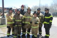 Firefighters during hands-on training at FDIC International