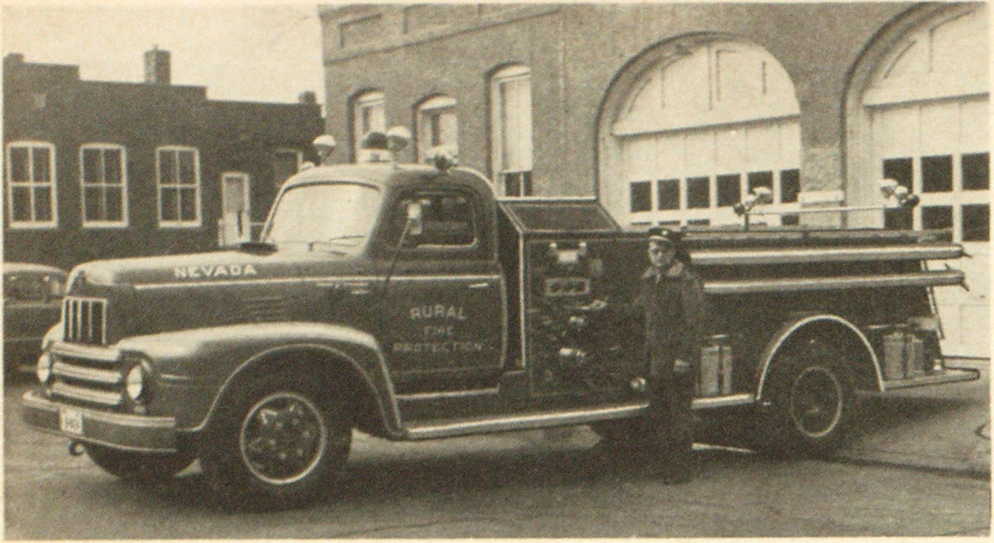 Nevada Iowa Fire Department Combined City And Rural Fire Protection District Fire Engineering